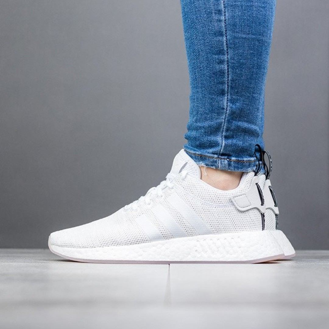 more photos 7cf98 bd02b PO) Adidas Womens NMD R2 Crystal White, Women's Fashion ...