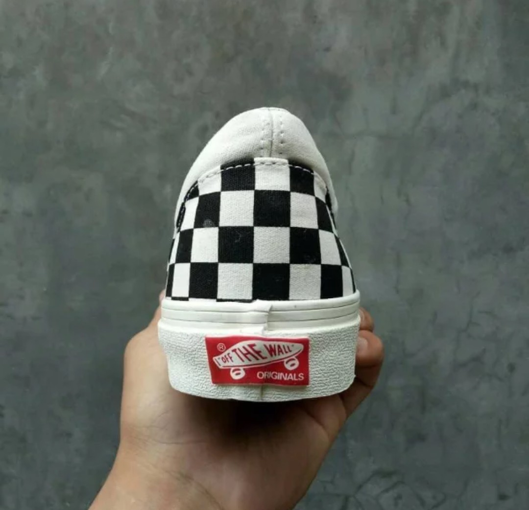 e3adc2daef Sepatu vans OG classic slip on LX checkerboard black white made in china  premium 1 1 original