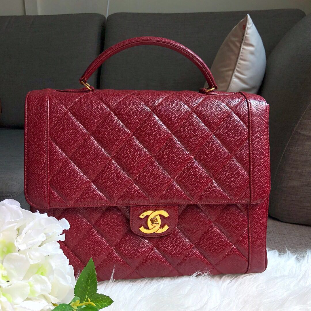 982f359c3ef1 ❌SOLD!❌ Super Beautiful!🌈 Chanel Vintage Maxi Jumbo Kelly Flap in ...