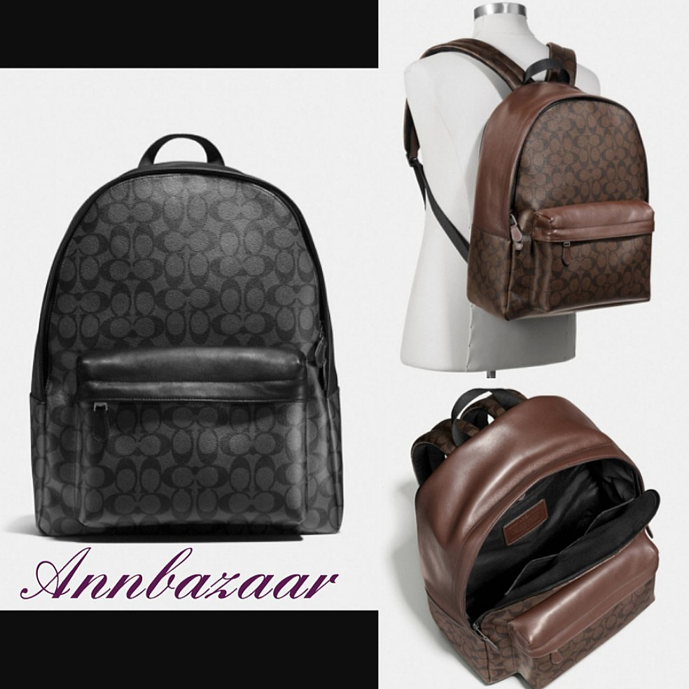 91acdaafe ... sale coach charles backpack signature 100 authentic mens fashion bags  wallets backpacks on carousell 3dcb4 2f41b ...