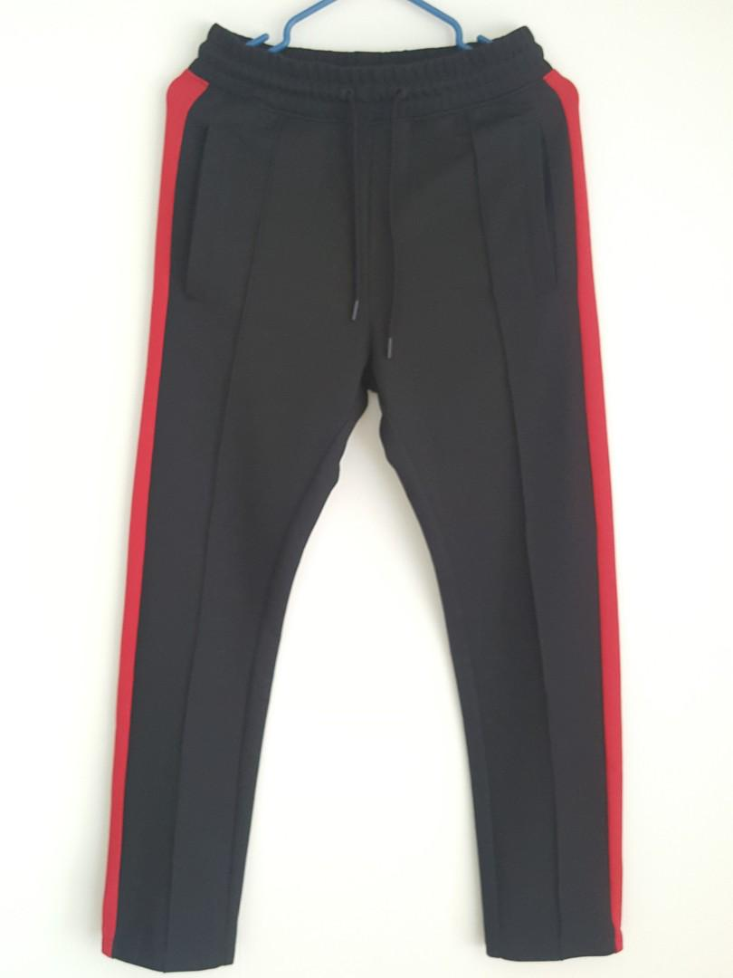 Sweat Pants with Red Stripe