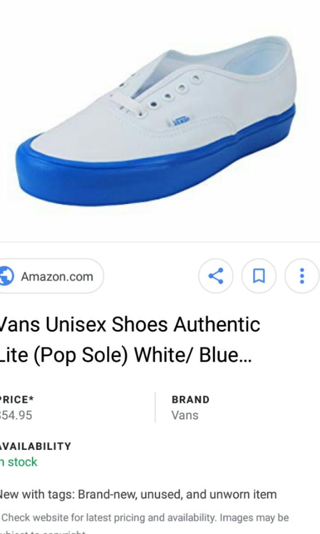 5c1abb3276 Vans Pop sole ultra cush white blue