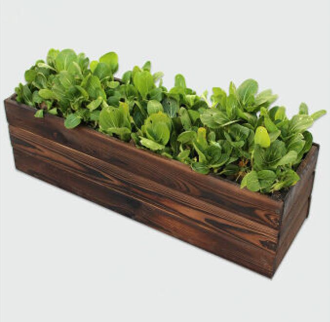 Wood Crate Planter Aged Wood Big Wooden Planter Pot Gardening Pots