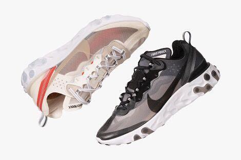 ad364a8bc20d WTB Nike React Element 87 BLACK or SAIL