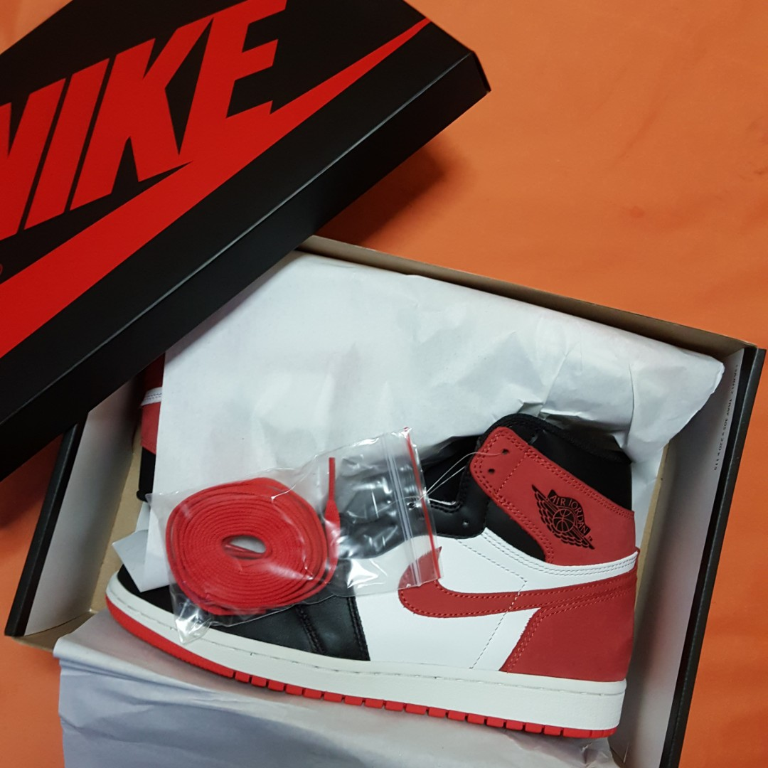 WTS AUTHENTIC NIKE AIR JORDAN 1 TRACK RED SIX RINGS US 8.5 e5fd13d48