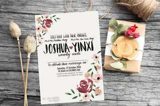🚚 Customised wedding invitations