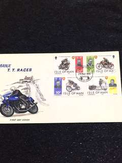 Isle of Man 1974 TT Races FDC stamps