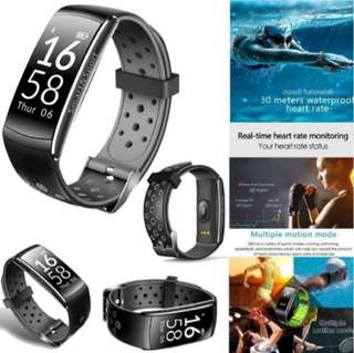 (461) Smart Watch Waterproof Activity Tracker With Heart Rate Monitor-New fitness Tracker Outdoor Sports Q8 Ip68 Swimming Wristband Bracelet