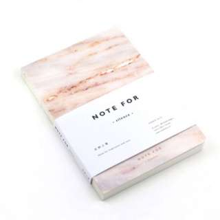 A5 marble notebook (vol 4, yellow)