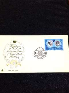 Isle of Man 1973 Royal Wedding FDC stamp