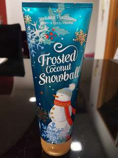 Bath & Body Works Frosted Coconut Snowball Body Cream
