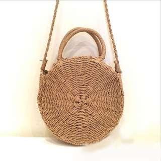 Round beach BALI bag (straw)