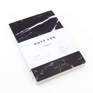 A5 marble notebook (vol 1, black)