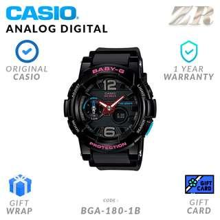 CASIO BABY-G ORIGINAL BA-180-1B Analog Digital Watch - 1 Year Warranty