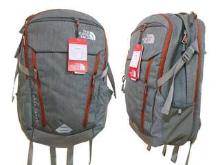 Authentic The Northface Surge Transit (Zinc Grey Heather/Picante Red)