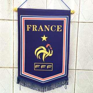 🚚 France football flag / banner brand new in plastic