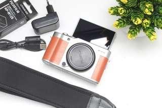 Kamera fuji XA-5 BROWN colour body only best seller