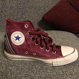 🚚 Converse 高筒帆布鞋 24.5cm