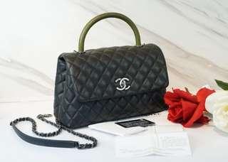 Authentic Chanel Coco Medium Lizard Handle