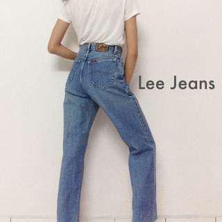 Lee Boyfriend Jeans Denim Straight Leg High Waisted Pants Trousers