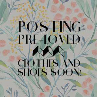 Posting preloved stuff soon!