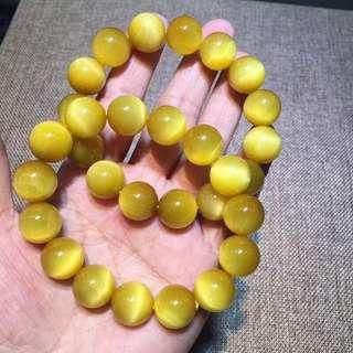 Top grade gold tiger eye bracelet 14mm color pure top quality