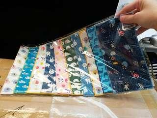 現貨 日本直送~半紗巾100%棉手帕 10枚不同款
