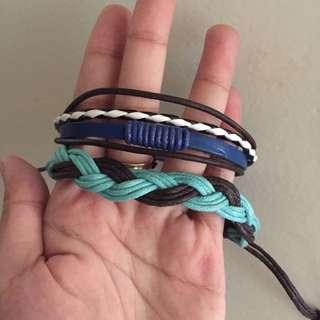 Stringed-Leathery Bracelets