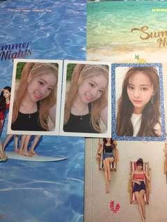 Twice Summer nights 小卡