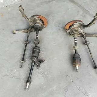 Discbrake and Driveshaft ZC 1.6 Honda Civic SH3 EF9