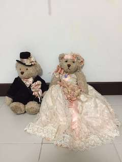 Brand new Lovely lace wedding bears
