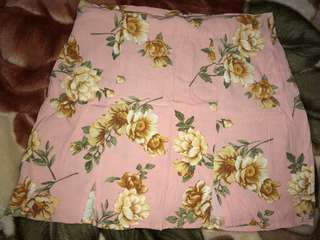 Forever21 baby pink floral mini skirt