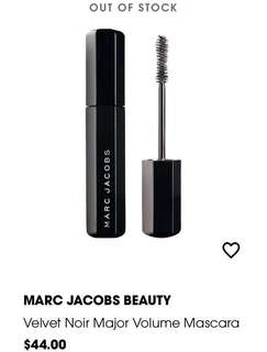 #BNIB MARC JACOBS BEAUTY VELVET NOIR MAJOR VOLUME MASCARA