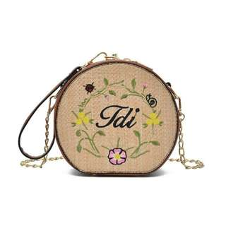 Cute Straw Knitted Bag 🌙