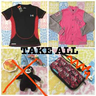 TAKE ALL new items! Bundles n Freebies Branded and imported sport shirt top jacket keychain pouch