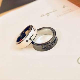 情呂介子 Rings for couples Agnes b