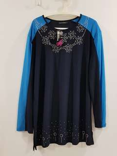 Bn ladies blouse tops plus size muslimah