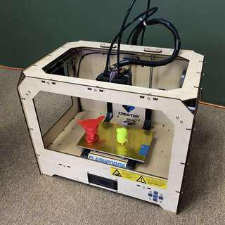 3D Printer Flashforge Creator Dual Extruders.