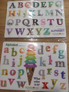 uppercase and lowercase alphabets magnets