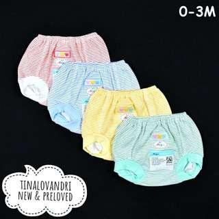 NEW Miyo 4pcs Celana Pop Bayi/Baby Motif Salur Newborn 0-3 Bulan (Updated 13/07/18)