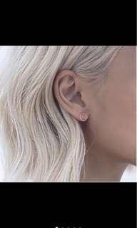 銀 小圓圈耳環