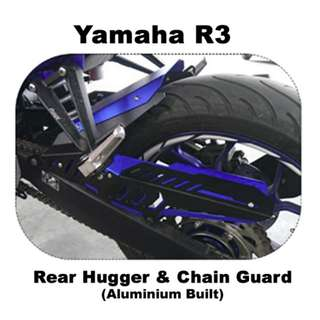 Yamaha R3 / R25 / MT03 / MT25 - Rear Fender & Chain Guard (Aluminium Built)