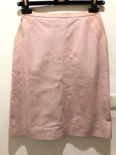🚚 真品Chanel 粉色皮裙