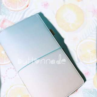 Traveller Midori Style Notebook Pastel Blue Pink Purple Gold White