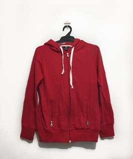 Red Zip-Up Hoodie / Jacket