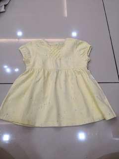 Carters Yellow Dress (6-12m)