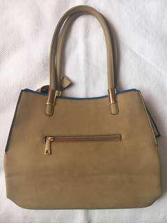 dudlin Beige Satchel Purse