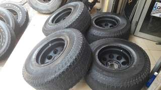 4x4 rim 15x10jj offset-46 tayar at 32x11.5x15
