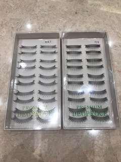 Set of 2 Boxes Fake Eyelashes