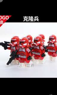 Star Wars Red Clone Troopers Minifigures